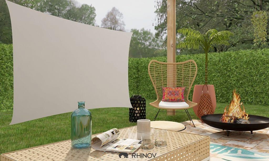 toile tendue exterieur beige projet rhinov