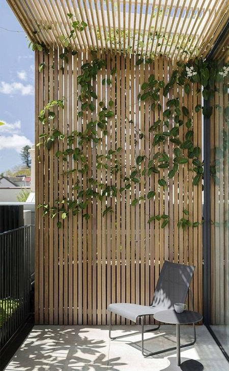 cloture en bois jardin
