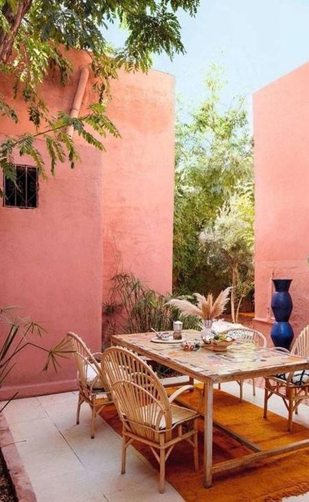 peinture mur jardin