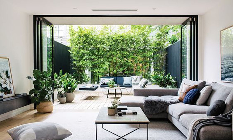 aménagement jardin vert