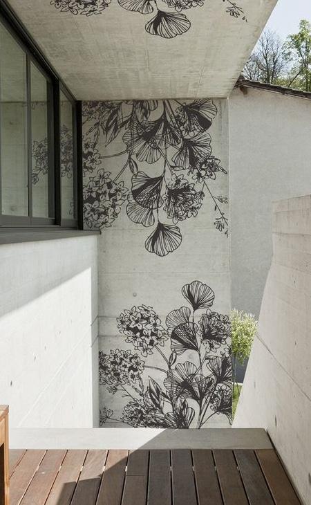 papier peint mur jardin