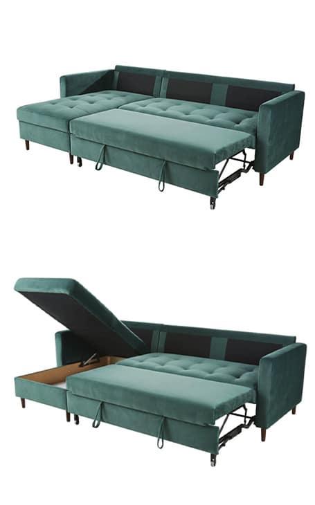 canapé d'angle coffre