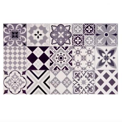 Tapis en vinyle motifs carreaux
