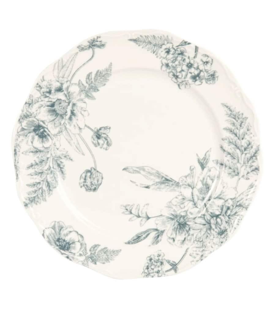 Assiette motif floral