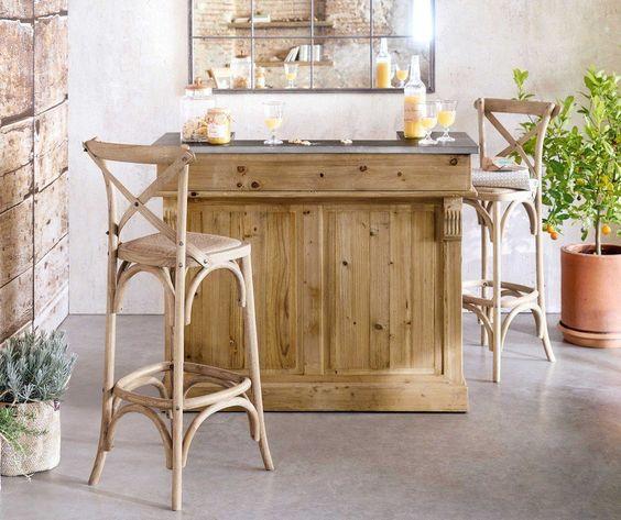chaise décoration rustique