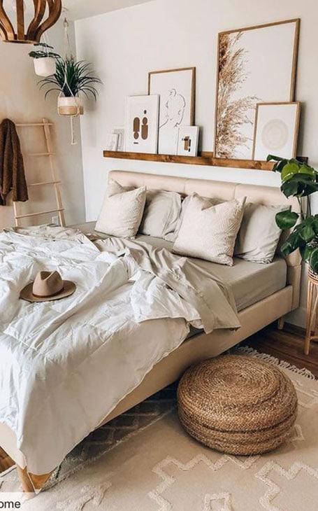 lit déco beige