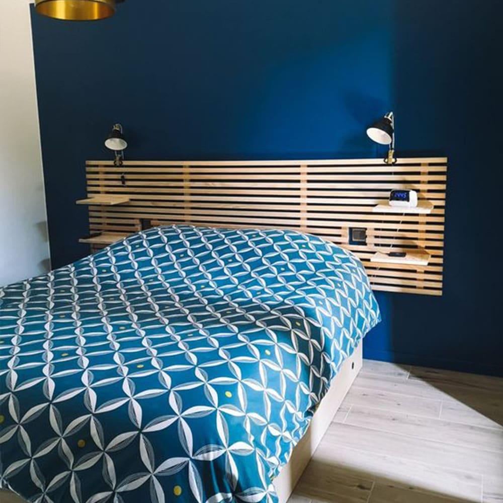 tasseaux tete de lit chambre
