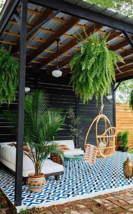 aménagement terrasse fleurie