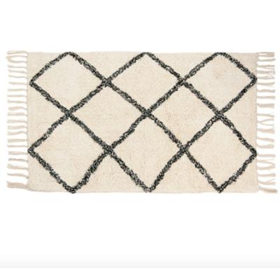 Tapis en coton motifs graphiques