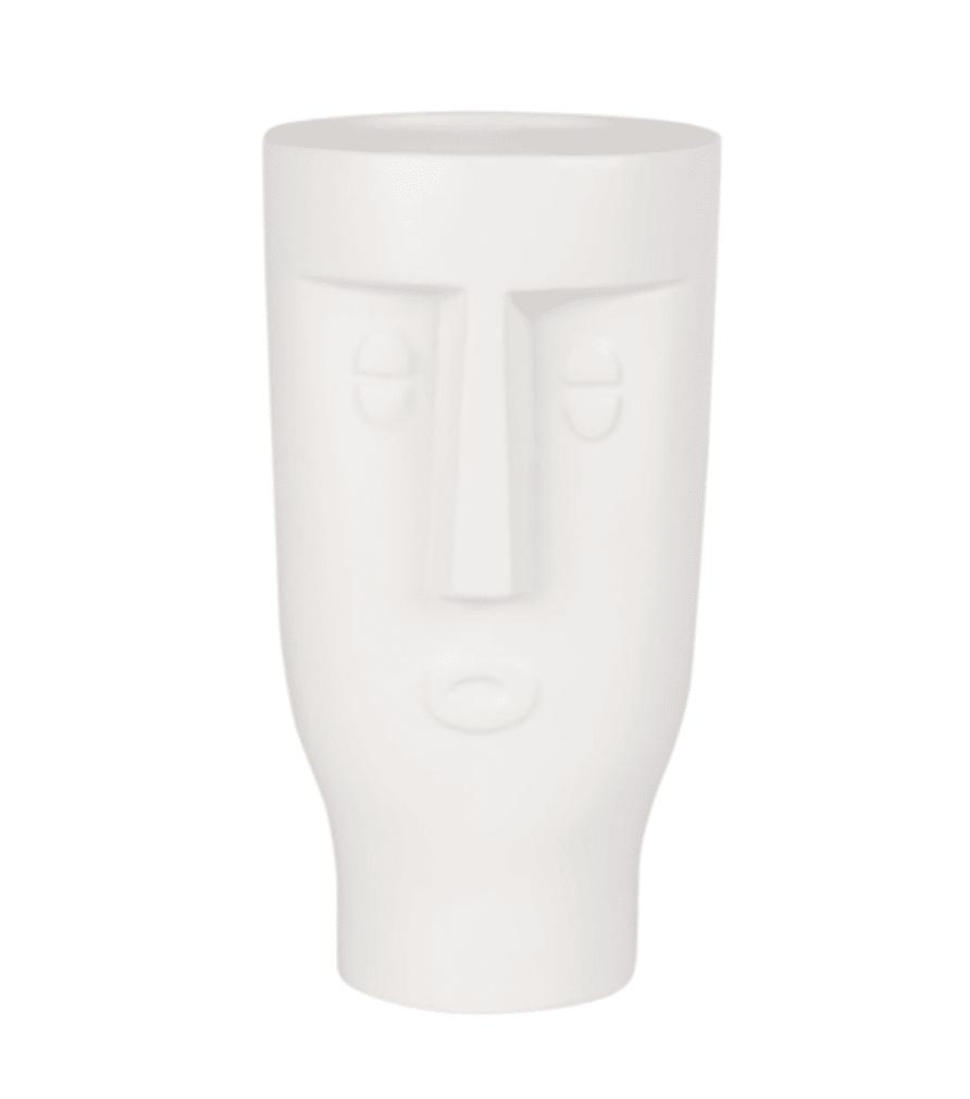 Vase visage en dolomite blanche