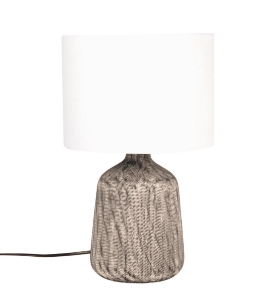 DEVA lampe en céramique écrue et noire