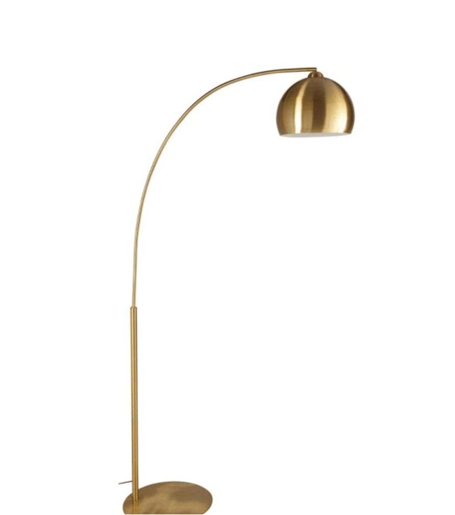 GOLD SPHERE lampadaire en métal doré