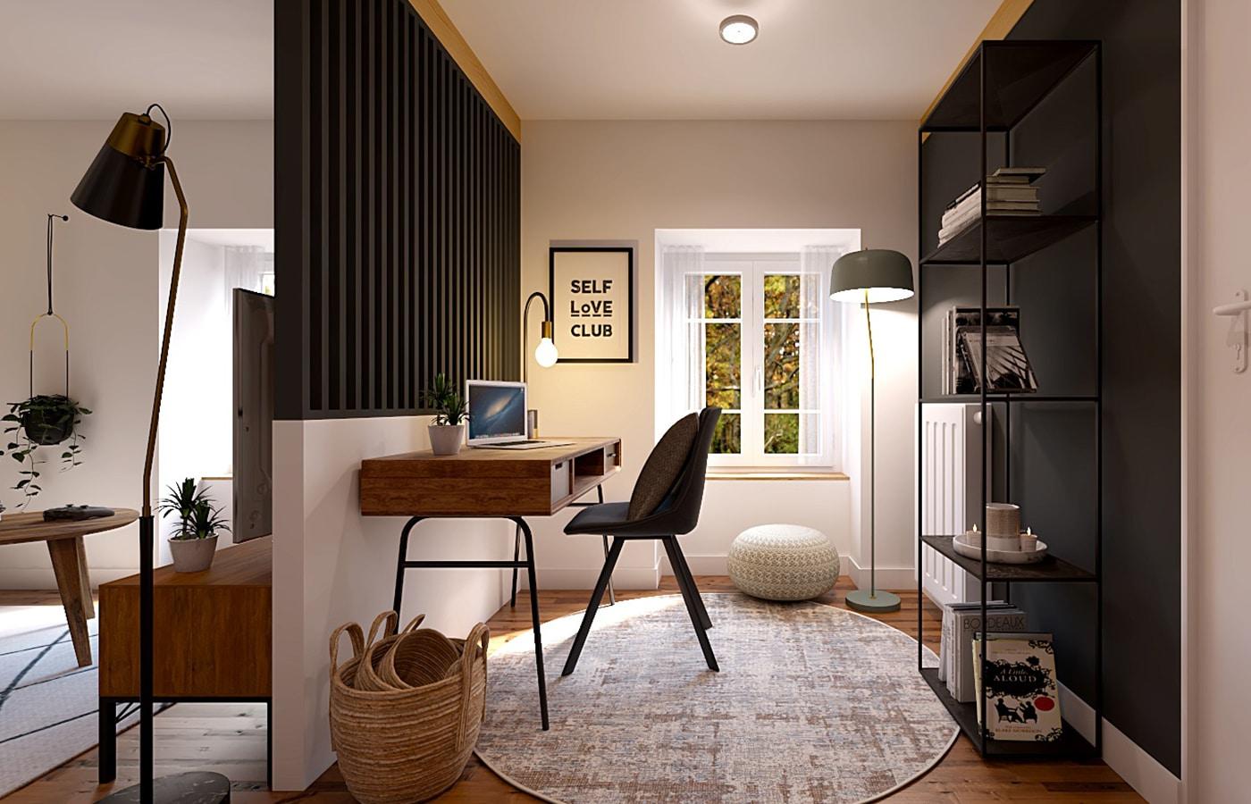 aménagement maison bureau