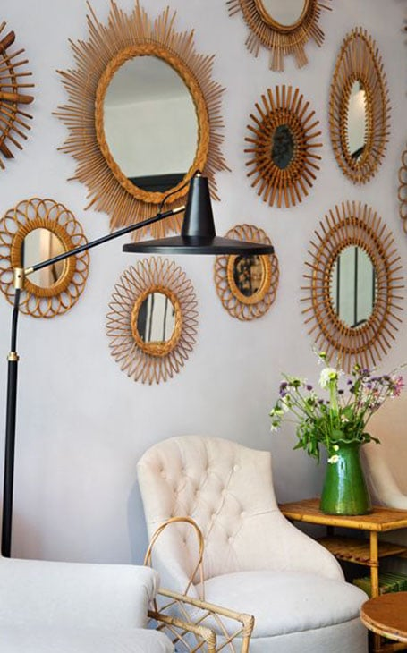 décoration intérieur mur de miroirs