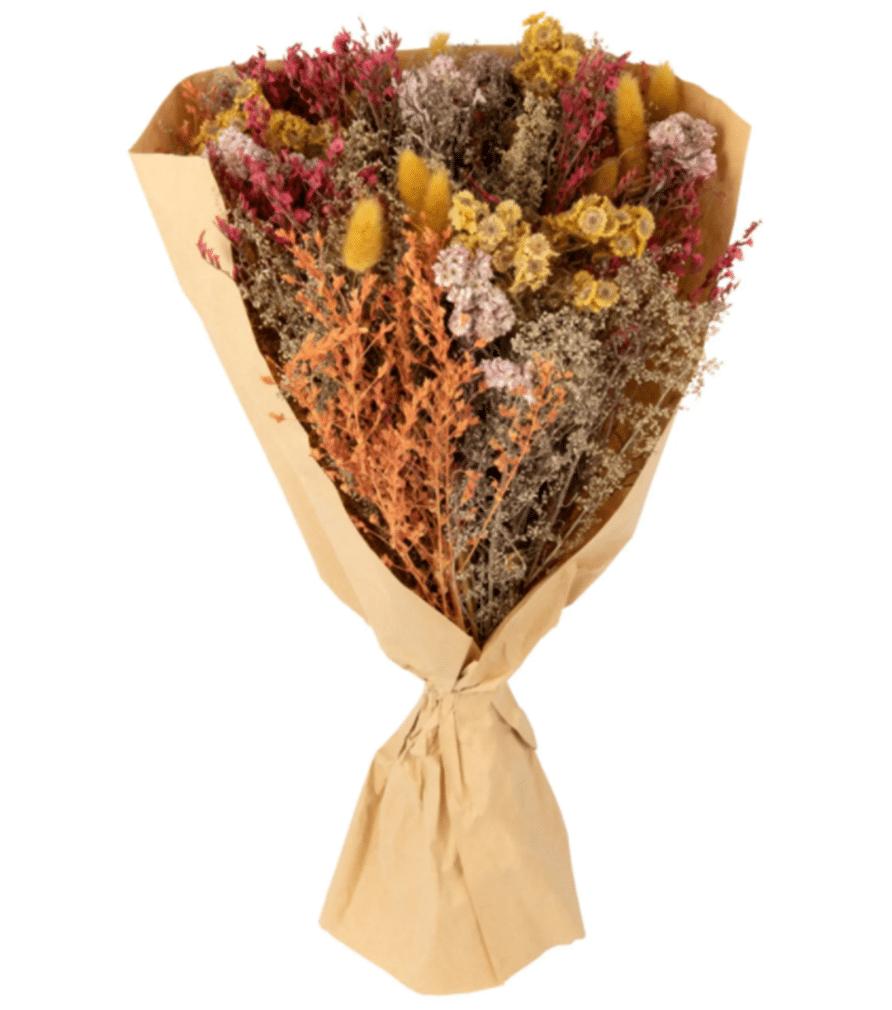 bouquet de fleurs séchées multicolore