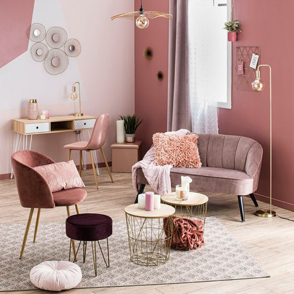 Déco rose salon