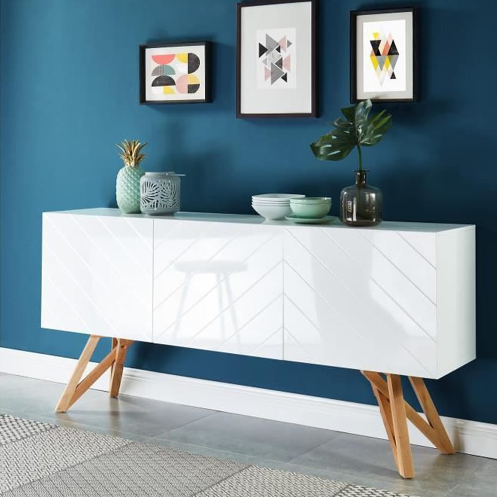 meuble laqué blanc moderne