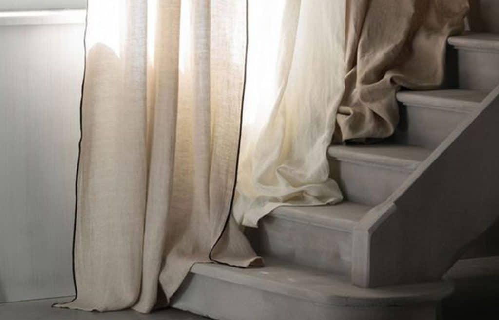 rideaux en lin