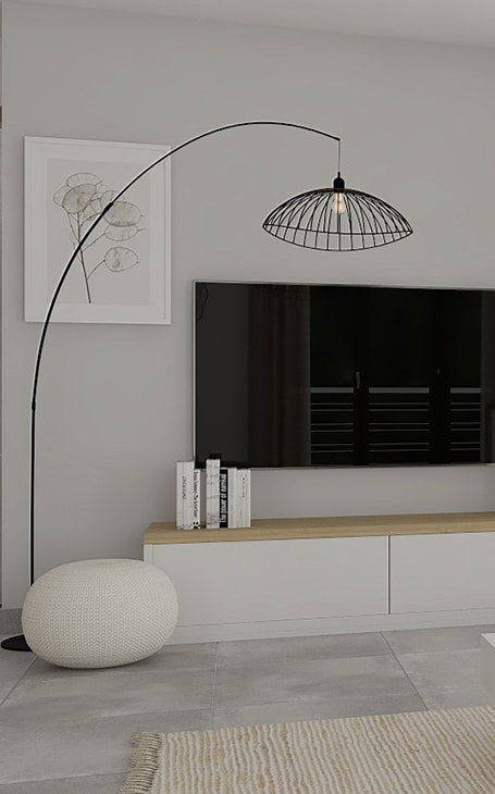 lampadaire maison moderne
