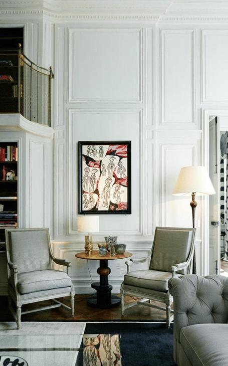 décoration salon à la française