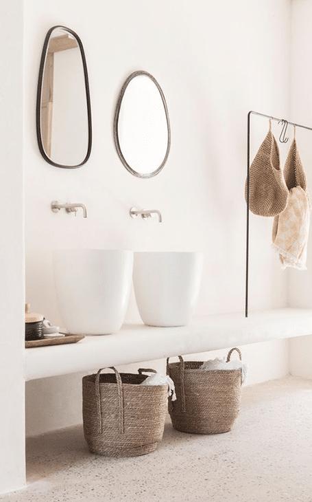 décoration minimaliste salle de bain naturelle