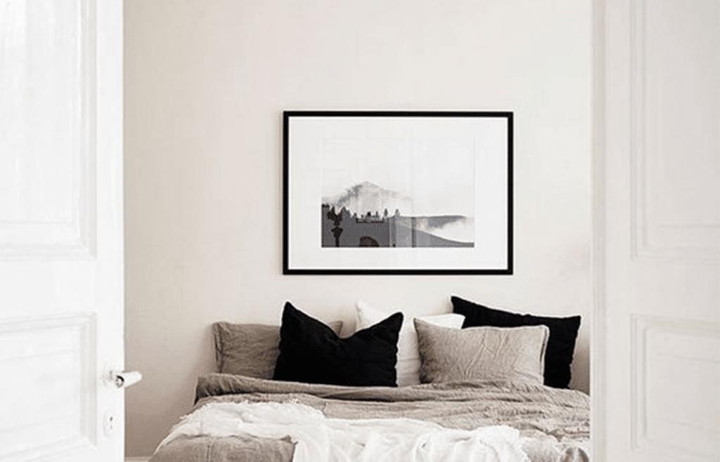 décoration minimaliste chambre sobre