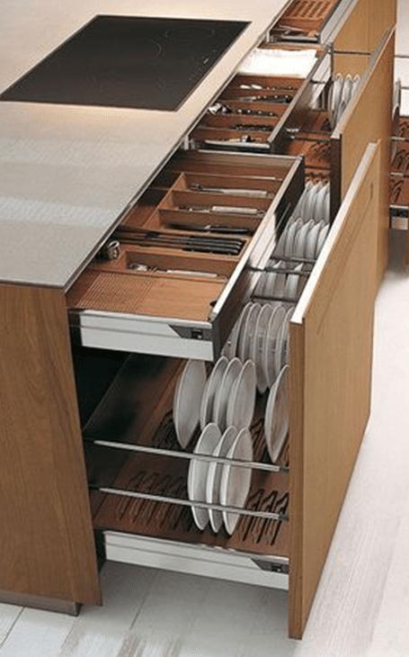 rangements fonctionnels cuisine design