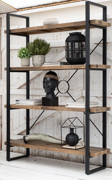 décoration étagère industrielle