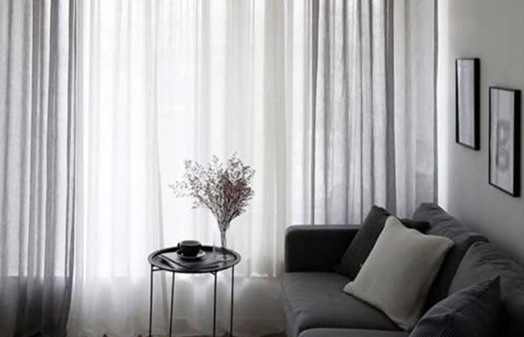 rideaux voilages minimalistes