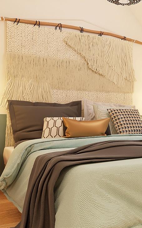 tête de lit tissage