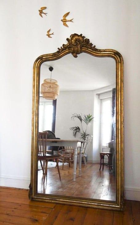 décoration d'intérieur grand miroir