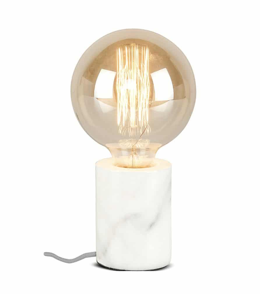 ATHENS - Lampe de table en marbre blanc