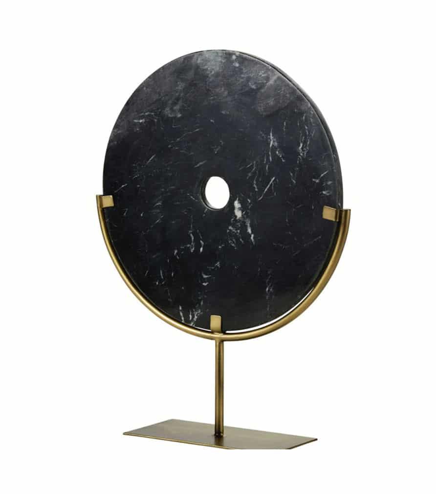 HAILEY - Statue cercle en marbre noir