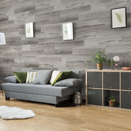 Multifunctional living room area with comfortable sofa