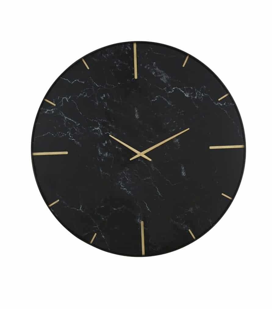 MALONE - Horloge imprimé doré et marbre
