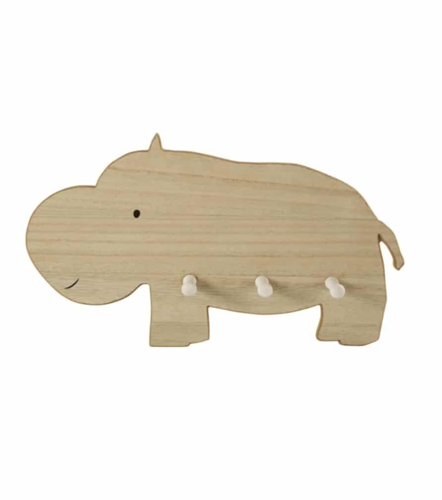 Patère hippopotame