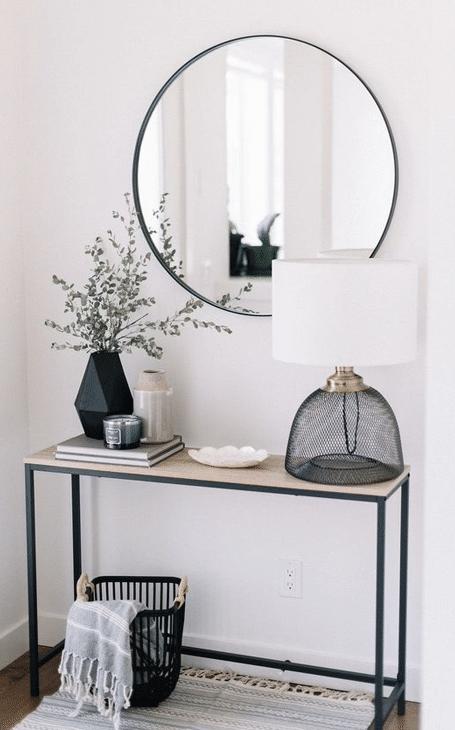entrée scandinave miroir