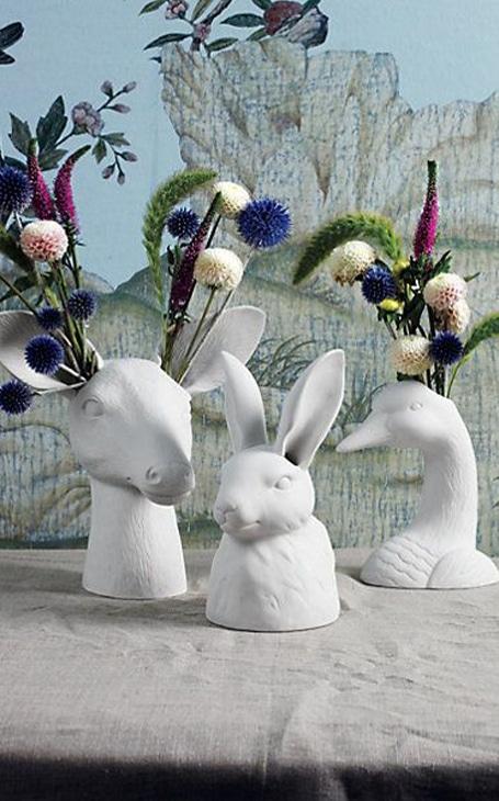 vases animaux
