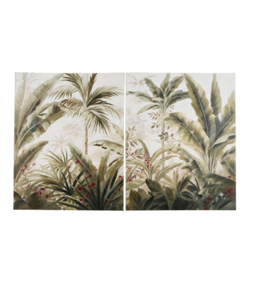 Toiles imprimé tropical