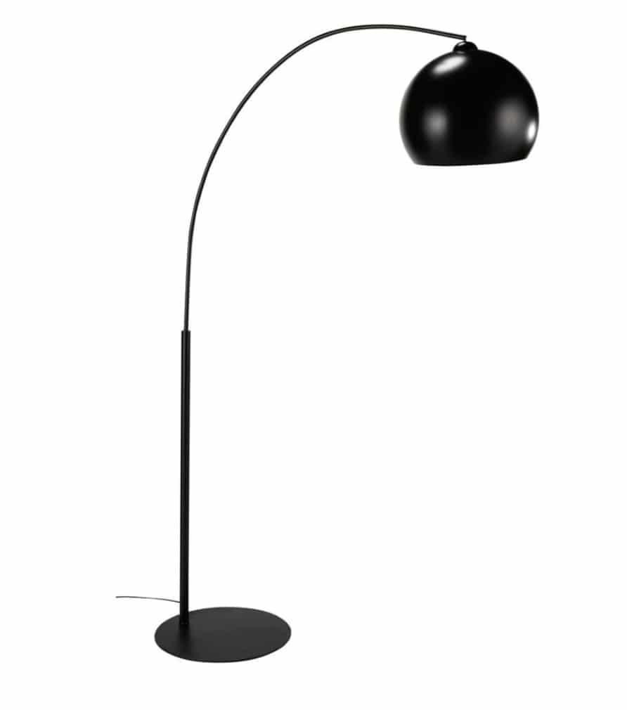 BLACK SPHERE - Lampadaire en métal noir