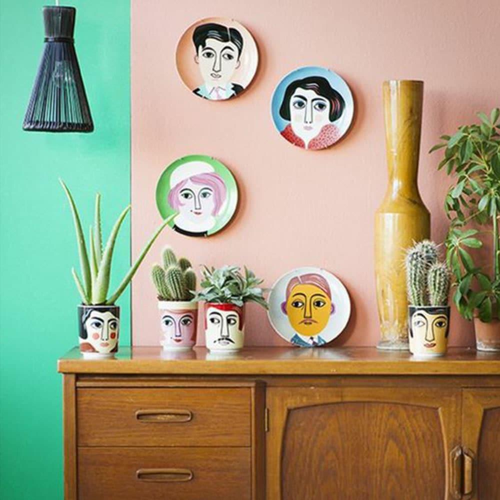 murs colorés
