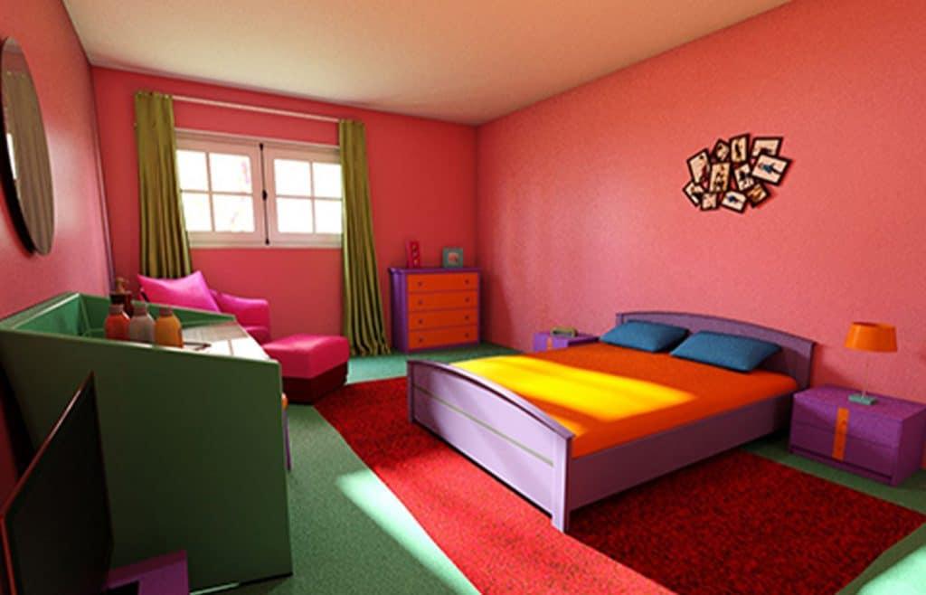décoration insolite colorée