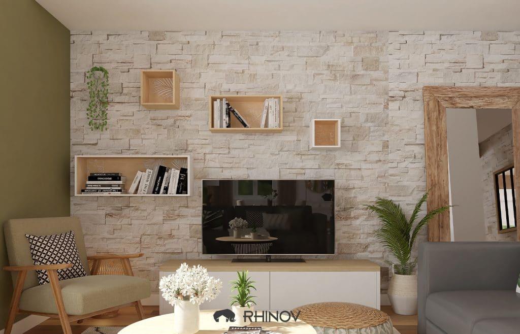 décoration rangement salon