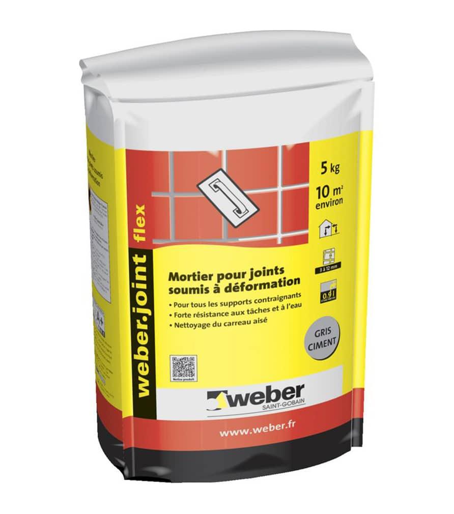Mortier joint souple en poudre Weber.joint flex pour carrelage