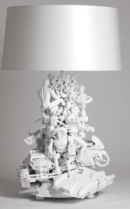 lampe figurine récup