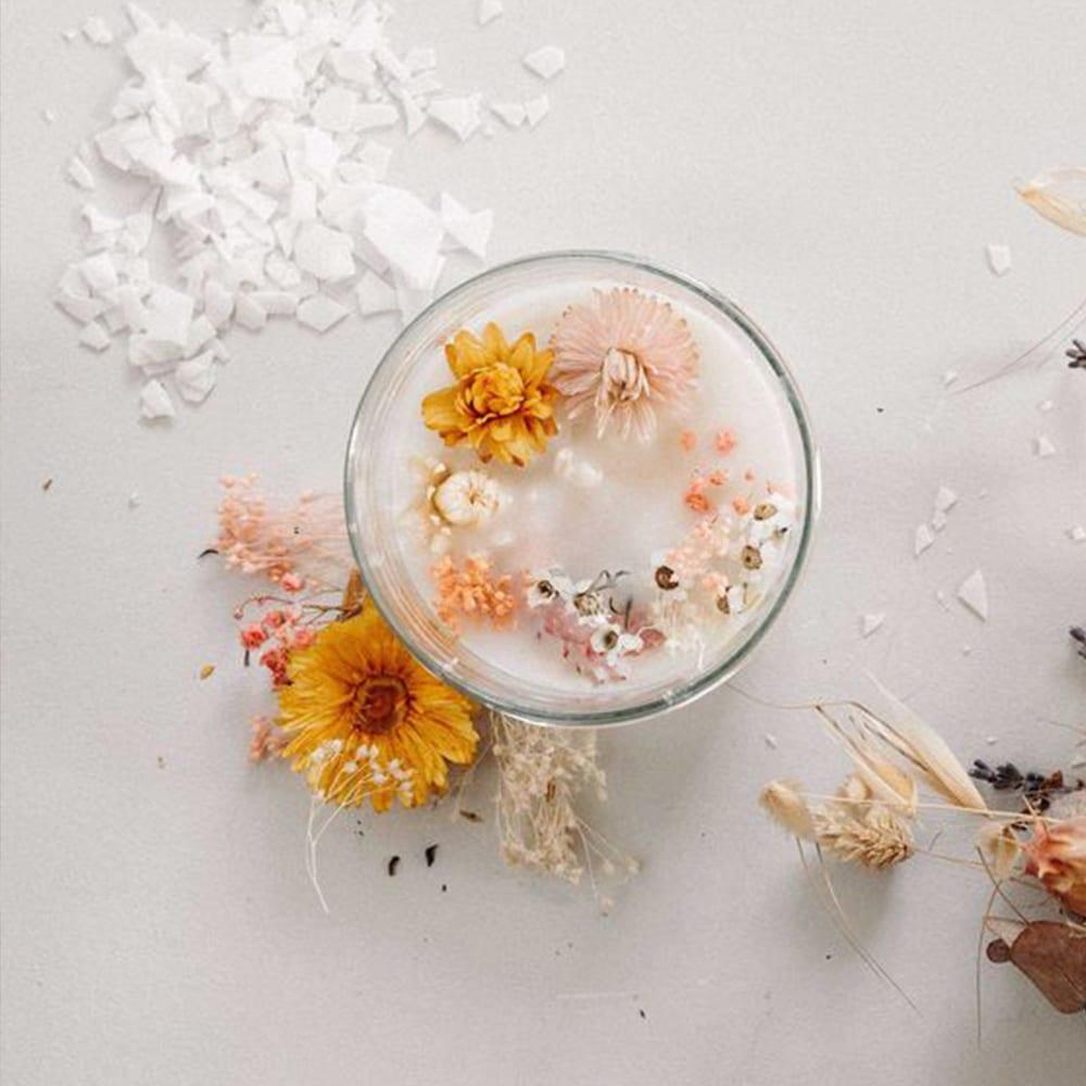 bougie fleurs
