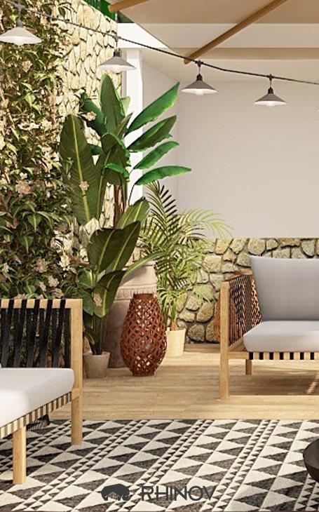 décoration terrasse plantes