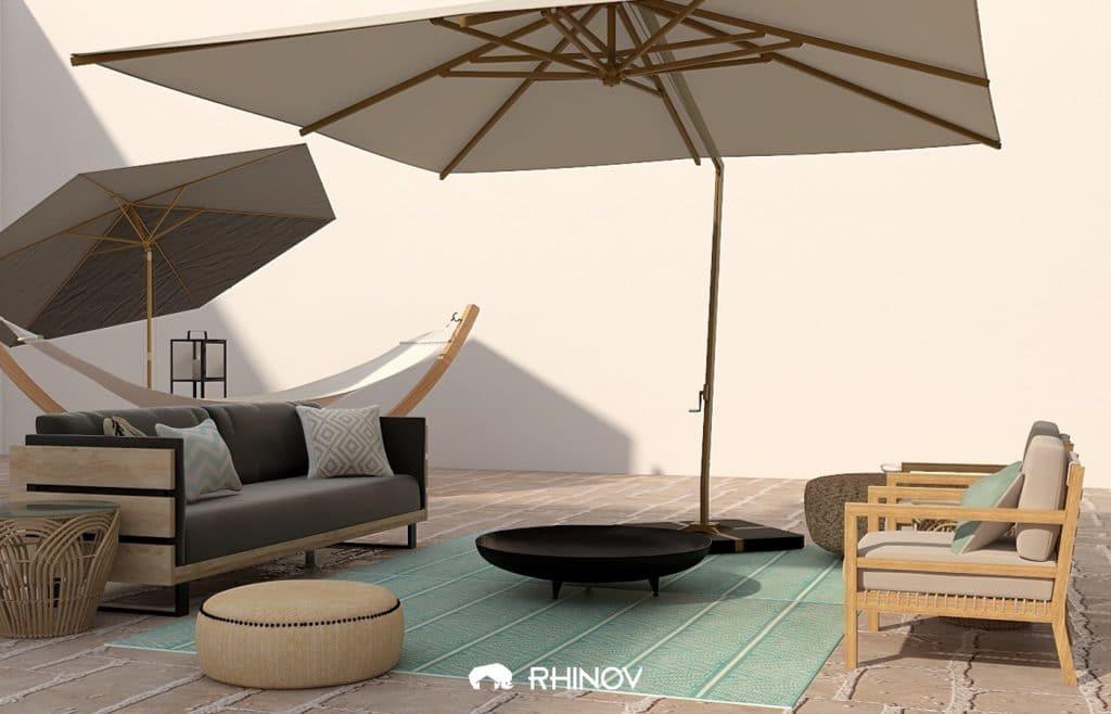 décoration minimaliste terrasse