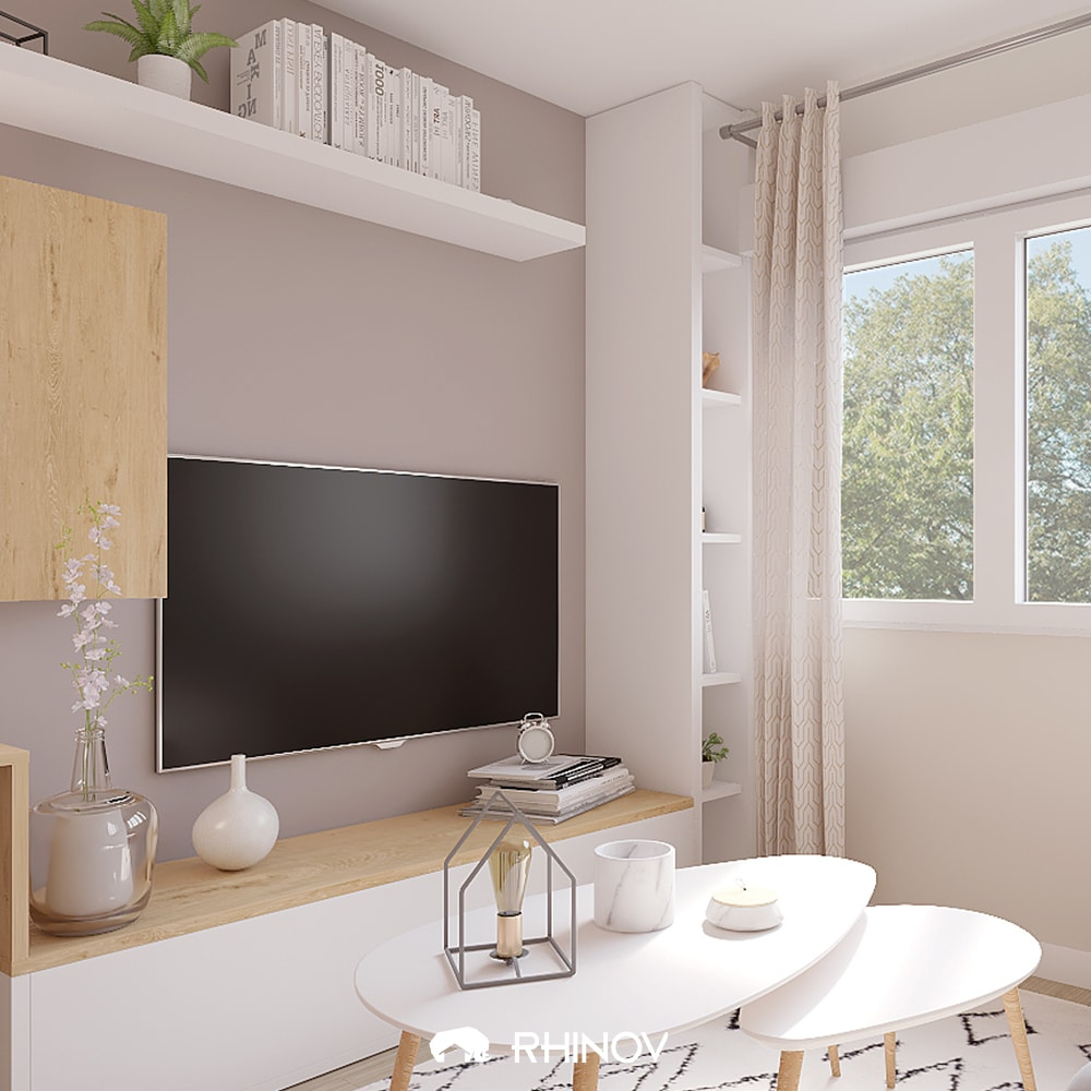 tv decoration salon