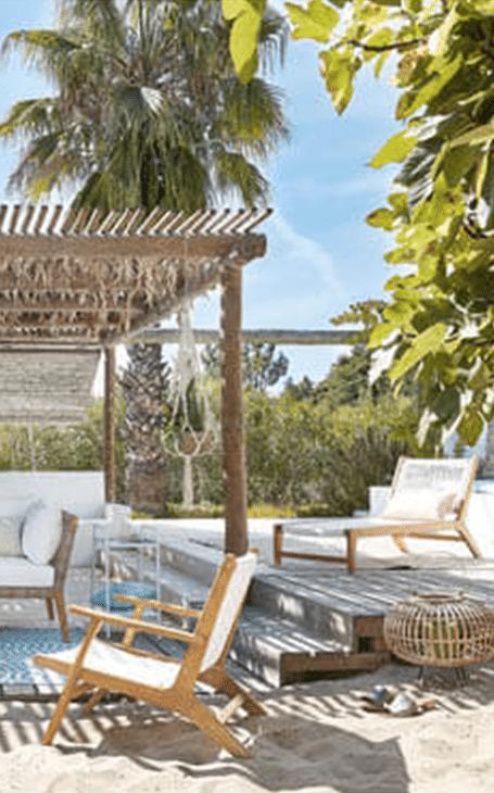 jardin exotique bord de plage